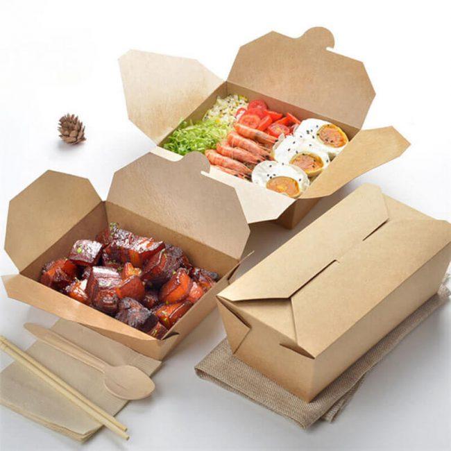 In hộp Kraft đựng thực phẩm