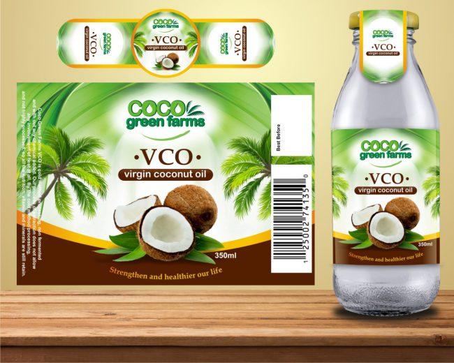In nhãn dầu dừa