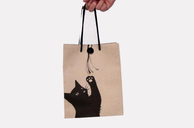 Túi Kraft mèo
